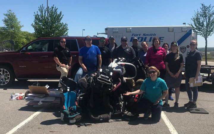 group of individuals who donated car seats