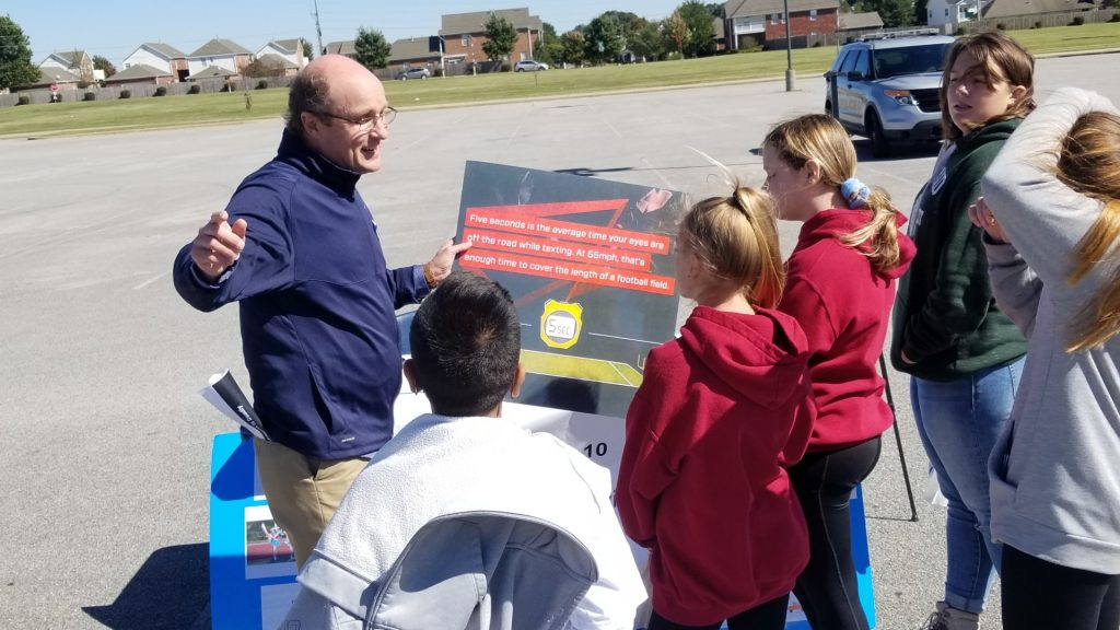 Fort Smith injury lawyer Joey McCutchen at teen driving roadeo